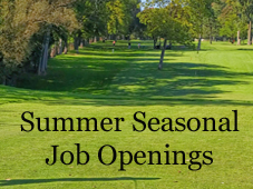 Golf Summer Seasonal Job Openings