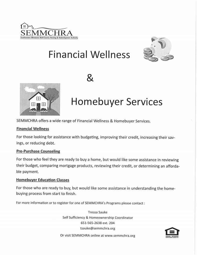 Financial Wellness and Homebuyer Services