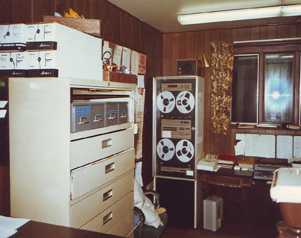 DCSO 911 Dispatch Center (north side of room) 1974-1991