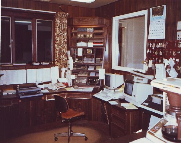 DCSO 911 Dispatch Center (south side of room) 1974-1991