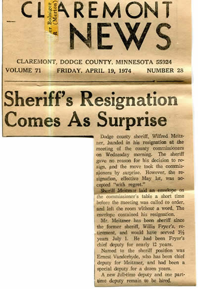 sheriff resignation
