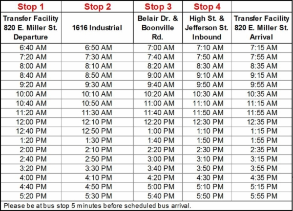 Highstreetwest route schedule