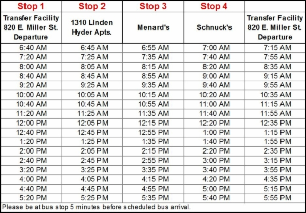 Moblvd route schedule