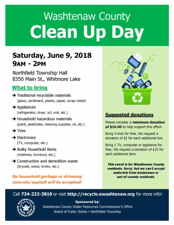 Flyer - Cleanup Day 2018