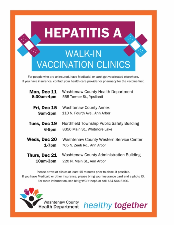 Flyer   Hep A Clinic