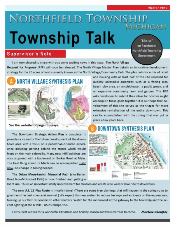 Township Talk Winter 2017 Page 1